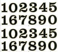 (シャシャン)XIAXIN 防水 PVC製 ナンバー 数字 ステッカー セット 耐候 耐水 数字 キャラクター ミニサイズ 表札 スーツケース ネームプレート ロッカー 屋内外 兼用 TSS-110 (2点, ブラックXゴールド)