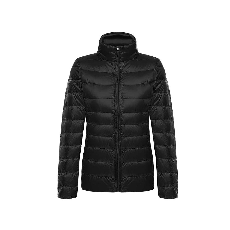 Azooken ダウンジャケット フード付き 立襟 ライトコート 薄い 超軽量 暖かい 防風 防寒 ウルト 無地 収納袋付き 通勤 登山 シンプル レディース 全13色