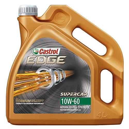 Castrol EDGE TITANIUM FST 10W-60 - Aceite sintético para motor (4 L)