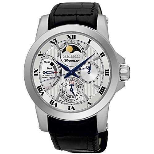 Seiko Herren-Armbanduhr Analog Handaufzug Leder SRX011P2