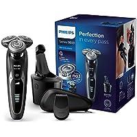 Philips Serie 9000 S9531/26 - Máquina de afeitar con cabezales de 8 direcciones, seco/húmedo, 3 modos y sistema de limpieza SmartClean, incluye recortador de precisión y funda de viaje, negro