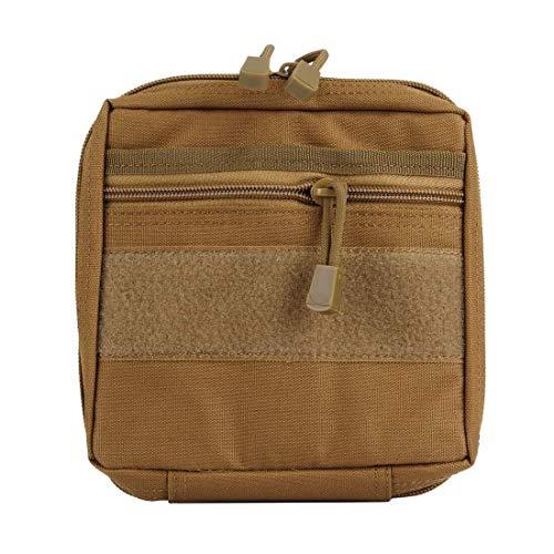Hancoc mochilas Tactical Medical Bag Storage Bag Bolsa De Lavado for Acampar Al Aire Libre Tamaño Del Kit De Primeros Auxilios De Campo: 18 * 17 * 4 Cm, Gadget Electrónico Tote Holiday (Color: Marrón) 🔥