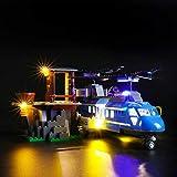 Kit di Illuminazione A LED per Lego City Arresto in Montagna,Compatibile con Il Modello Lego 60173 Mattoncini da Costruzioni (Non Incluso nel Modello)