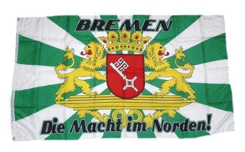 Fahne/Flagge Bremen Die Macht im Norden 90 x 150 cm
