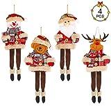 Aipaide Muñecas Colgantes para Navidad 4 Piezas Muñecas para Decoración de...