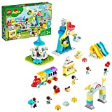 LEGO DUPLO Town Amusement Park 10956 Fairground Building Toy with a Train, Ferris Wheel, Horse Carousel and More; New 2021 (95 Pieces)