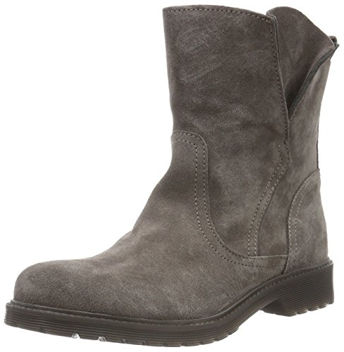 Buffalo London Damen 8036 Suede Kurzschaft Stiefel, Grau (Taupe 01), 37 EU