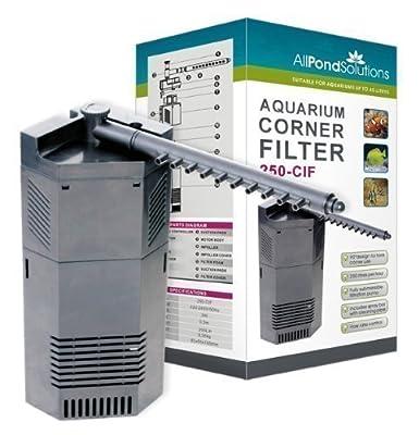 All Pond Solutions 250-CIF Corner Internal Fish Tank Filter