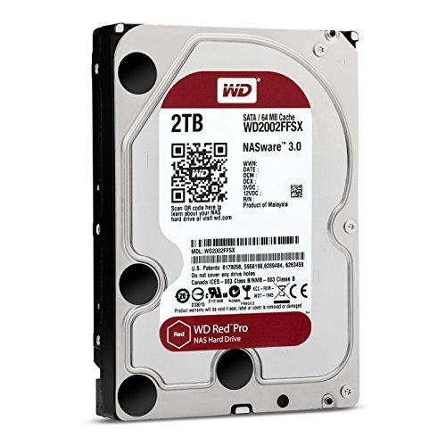 Western Digital WD Red Pro HDD Interno 2000 GB, SATA III, 6000 Mb/s, 7200 RPM, 64 MB, 3.50 Pollici