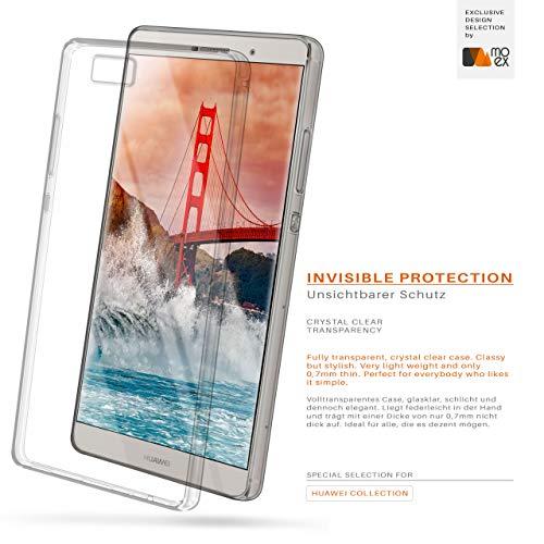 MoEx® Ultra-Clear Case [Vollständig Transparent] passend für Huawei P8 Max | rutschfest und extrem dünn - Fast unsichtbar, Klar - 2