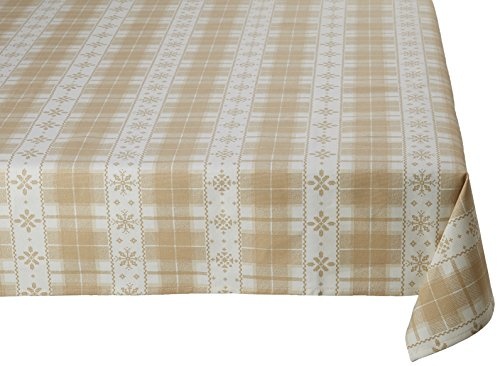 Georges G TEP039/5-3 Galibier Rayure Nappe Rectangulaire Coton Beige 250 x 160 cm