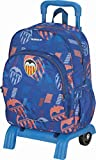 Mochila Valencia CF | Mochila Escolar con Ruedas, Mochila con Carrito Desmontable con Compartimento Principal de Gran Capacidad y Bolsillo Frontal Adicional - Medidas 33 x 40 x 14 cm - Color Azul