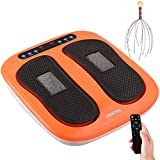 HOILTAL Foot Massager Electric Foot Massager Machine with Head Scratcher Scalp Massager shiatsu Foot Massager Rolling for Foot and Leg Massager SPA with Heat Mode Remote Control