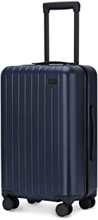 Luggage, Carry On Luggage with Spinner Wheels, Hardshell Suitcase for Travel with Built in TSA Lock Navy Blue