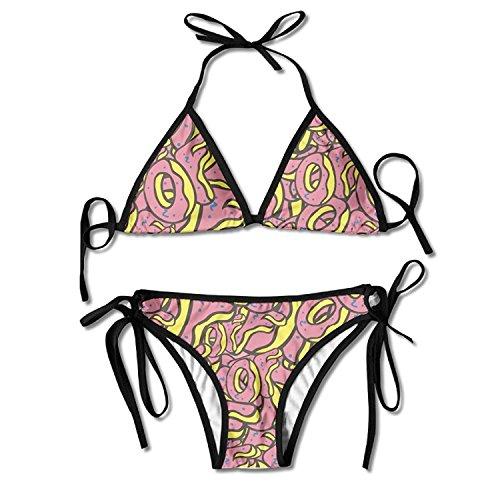 Strange Future Bikini Women's Summer Swimwear Triangle Top Bikinis Swimsuit Sexy 2-Piece Set