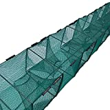 GUOYAJF Fishing Net Fish Basket,Fish Crab Basket,Collapsible Fishing Net Cage,Easy Use Hand Casting Bait Traps Cast Mesh Trap for Fishes, Shrimp,Crawfish,Crab,472.44inches