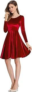 Women's Velvet A-Line Swing Party Dress