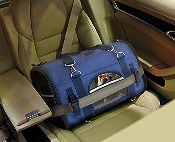Transporteur à dos ROBUSTE 6-en-1 d'animaux de compagnie, transporteur frontal, sac à épaule et sac à main pour petits animaux, transporteur de voyage aux côtés souples pour chats, lapins, chiens