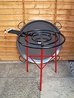 Vaello Campos Catering Paella Kit - 60cm Gas Burner, 90cm Steel Pan & Reinforced Tripod by Vaello Campos