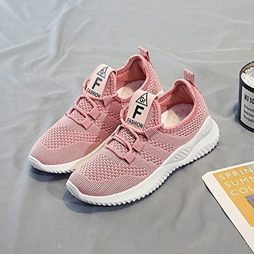 N\C Calzado Deportivo para Mujer Primavera y Verano Malla Transpirable Calzado Deportivo Casual Moda para Mujer Calzado Deportivo para Correr Calzado Antideslizante