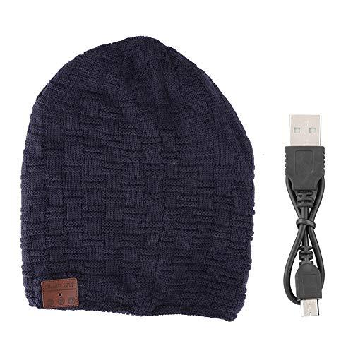 DAUERHAFT Sombrero con Cable USB, Auricular con Respuesta Bluetooth automática Full-Duplex, para teléfonos móviles, portátiles, Altavoces, 4 Colores(Azul)