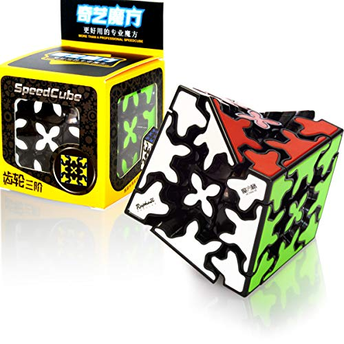 QY Toys 3X3 Gear Cube 3x3x3 3D Gear Cubo Shift Velocidad Puzzle Cubo Magico Negro