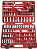 Famex Werkzeug 525-21 Steckschlüsselsatz mit Gelenk- und Feinzahnknarre