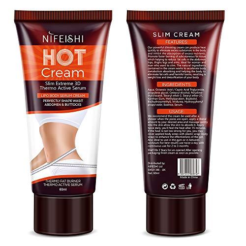 Hot Cream Crema Reafirmante Adelgazante Profesional para
