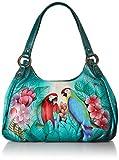 Anna by Anuschka Tasche aus echtem Leder, gerüscht, handbemalt, Original Artwork, (Brazilian Beauties), Einheitsgröße
