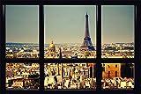 Paris - Window - Fenster Poster Plakat Druck - Größe