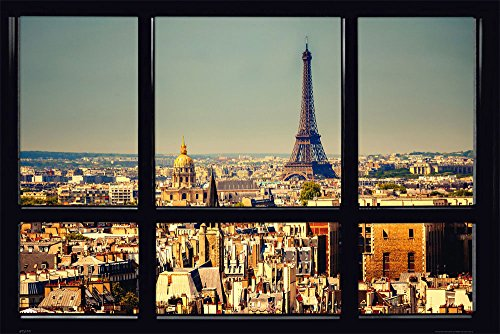 Empire Interactive Empireposter – Paris – Window – Taille (cm), env. 91,5 x 61 – Poster -