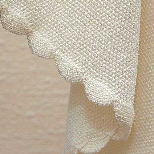 Manta para bebé de pura lana virgen de merino (natural).