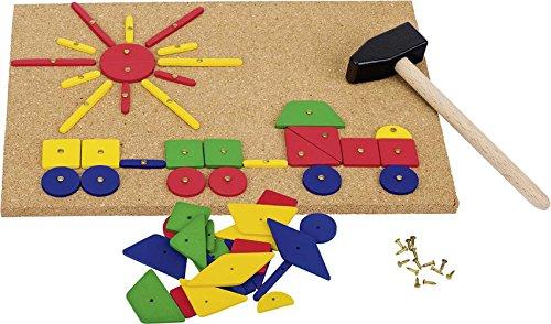 Goki- Puzzles de maderaPuzzles de maderaGOKIMartillo y Set de Clavos, Multicolor (1)