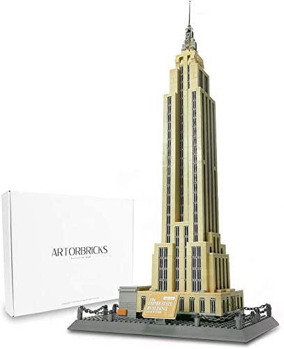 popular ArtorBricks Architectural online sale Empire State Building Large Collection Building Set Model Kit and Gift for Kids and Adults , wholesale Compatible with Lego (1995 Pieces) online sale