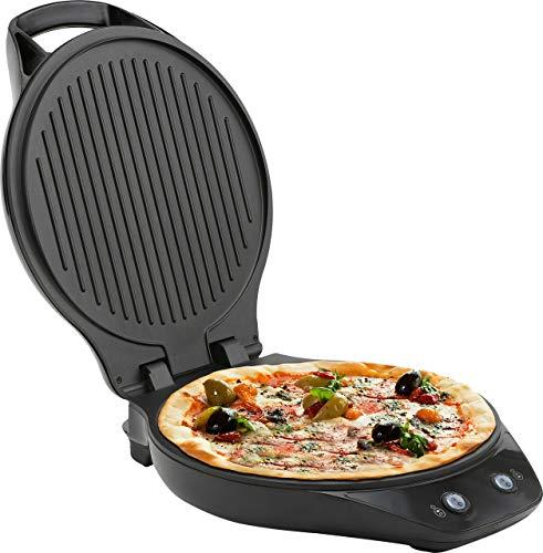 Melissa 16250069 3 in 1 Pizzamaschine 3 in 1 - perfekt als Pizzabäcker, Kontaktgrill / Tischgrill oder Burger / Panini Maker