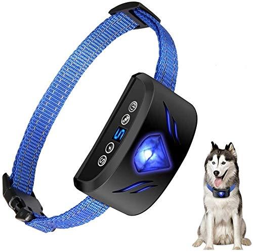Trainingshilfe für Hunde, Automatisches Anti-Bell-Training, Stoppt Hundebellen Mit Harmlos Summer/vibration/auswirkungen Modus Und Einstellbare Empfindlichkeit, Hund Für Kleine Und Mittl
