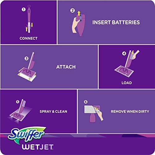 Swiffer WetJet Multi Surface Floor Cleaner Spray Mop Pad Refill, 24 count