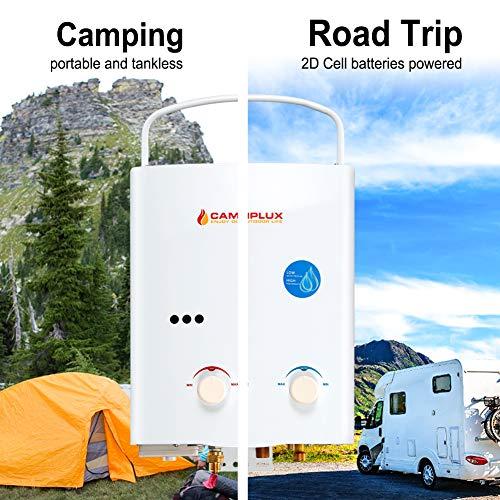 Camplux outdoor water heater