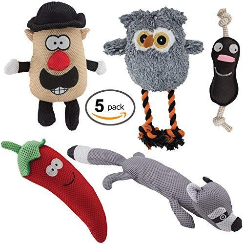 Dawgeee Dog Toys Value 5 Pack for Puppy, Small Dogs and Medium Dogs,...