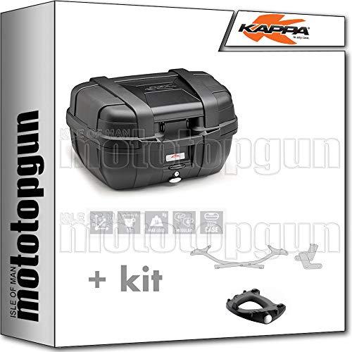 kappa maleta kgr52n garda 52 lt + portaequipaje monokey compatible con yamaha tracer 700 2020 20