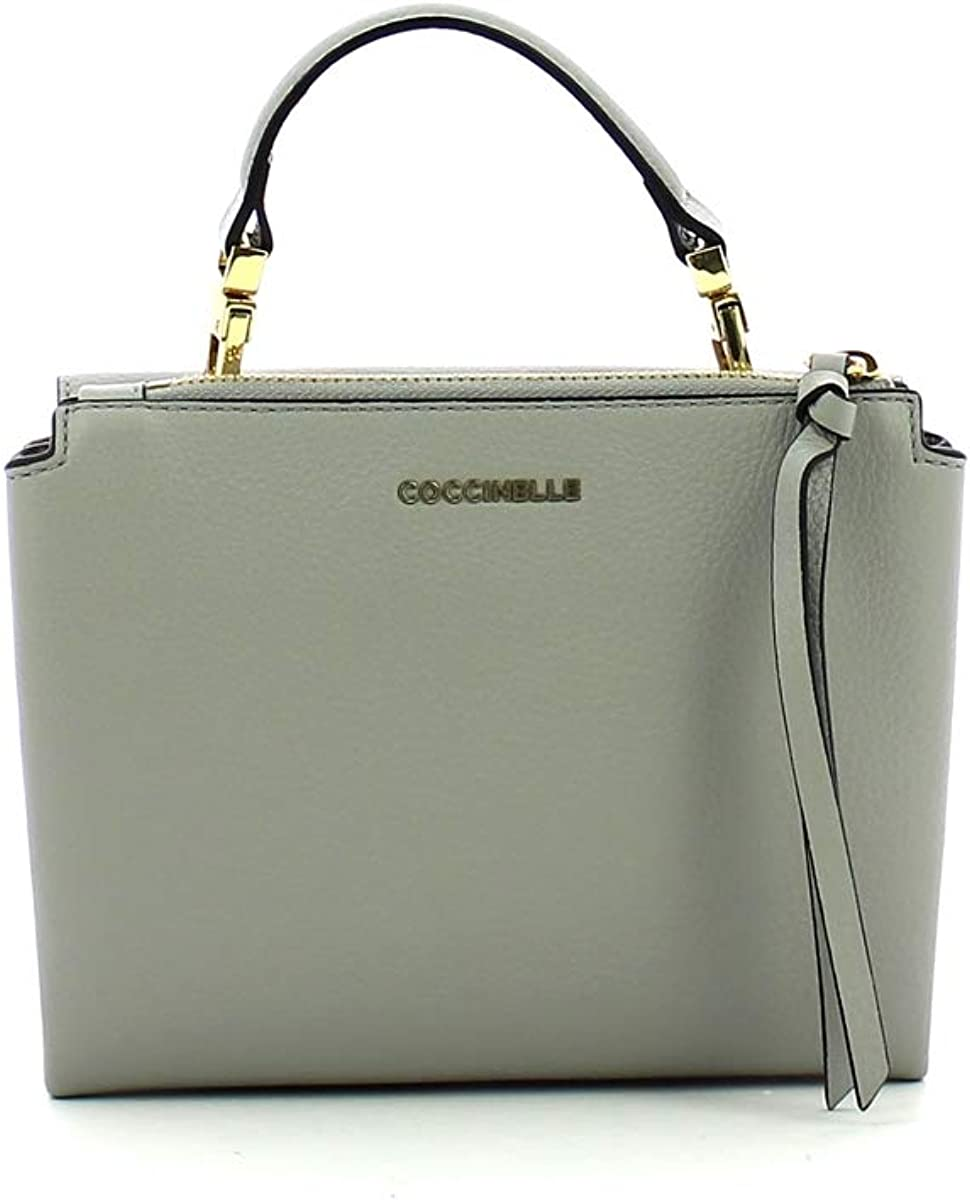Coccinelle Mini Arlettis in Natural Grain Leather Dolphin
