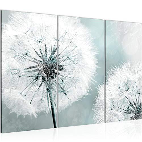 Decoración de la mesa pared de la flor diente de león - 120 x 80 cm Vista de impresión en lienzo Salón Apartamento - listo para colgar - 207131b