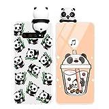 Yoedge Funda para Samsung Galaxy A5 2017, Silicona Cárcasa 3D Animal Muñecas Toy con Dibujos Antigolpes de Diseño Suave TPU Ultrafina Case Cover Fundas Movil para Samsung A5 2017 5,2, Panda 2