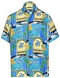 LA LEELA Casual Hawaiana Camisa para Hombre Señores Manga Corta Bolsillo Delantero Vacaciones...