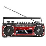 auna Duke - Minicadena , Radiocassette , Radio FM , Puerto USB Compatible con MP3 , Bluetooth ,...