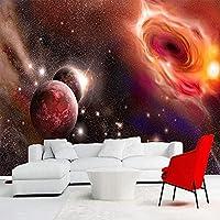 3D写真任意のサイズ美しい宇宙星空銀河大きな壁画の壁紙寝室のリビングルームの壁紙 140x100cm