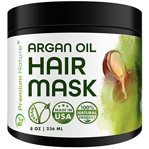 Arganöl Haarmaske Hair Mask Haarkur - Premium Nature Natural Haar Kur Argan Öl Kaputte Haare Conditioner Sehr Trockenes Strapaziertes Haar Argan Oil Locken & Glatte Haare...