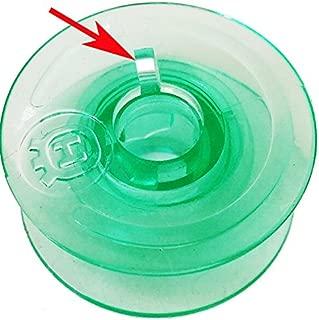 20pcs Clear Green Bobbins Compatible with Viking Husqvarna White Home #4125615-45#4123078-G,Husqvarna Viking Rose Designer Platinum Lily Series, Pfaff