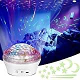 Mitcien Star Projector LED Star Light Projector for Kids Bedroom Baby Starry Sky Galaxy Night Lights Party Decoration with Timer 4 Modes Romantic Atmosphere Lamp