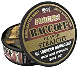 BaccOff, Original Straight Pouches, Premium Tobacco Free, Nicotine Free Snuff Alternative (5 Cans)